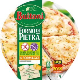 PIZZA BUITONI FORNO DI PIETRA 4 QUESOS SIN GLUTEN