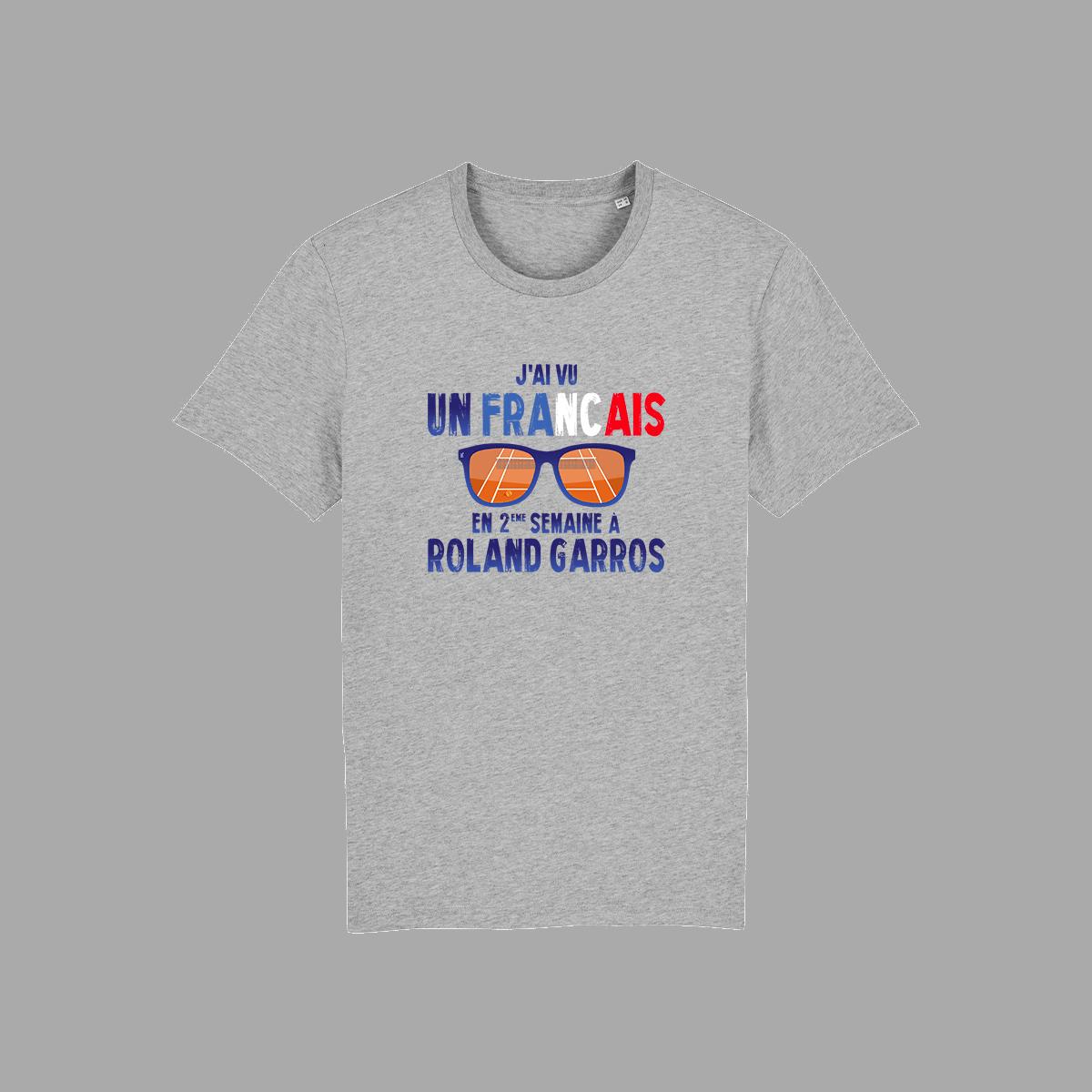 T-shirt gris FFL Tennis Roland Garros