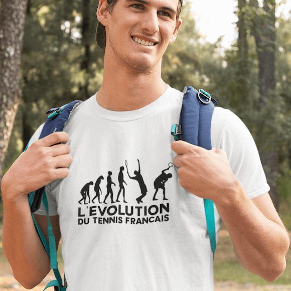 T-shirt FFL évolution du tennis francais