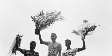 Anquetil_Poulidor_Bahamontes_1964