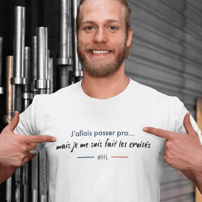 t-shirt ligaments croisés passer pro