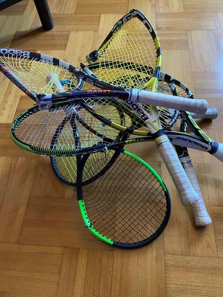 Tennis raquette cassée