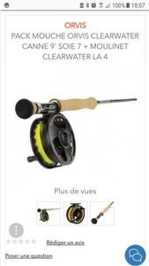 Orvis Cambos Clearwater 9' soie 7 + moulinet Clearwater LA 4
