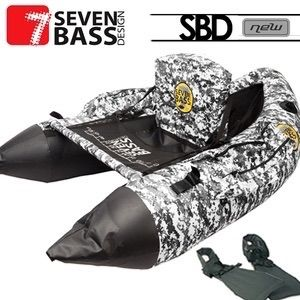 FLOAT TUBE SEVEN BASS SBD HARD FABRIC LINE BLANC