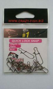 Crazy fish Agrafes