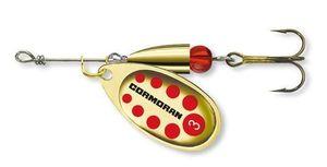 Lures Cormoran Cormoran Spinner Bullet N°2 dorée points rouges 4g