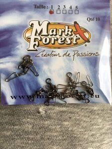 Mark Forest Emerillons à agrafe Noirs