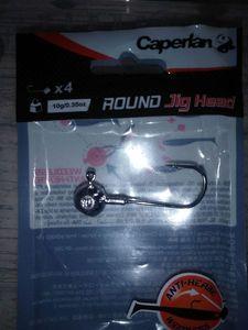 Hooks Caperlan round jig head 10Gr