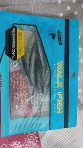 walk fish blue paillette