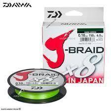 J BRAID X8 18/100 CHARTREUSE