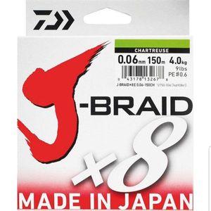 TRESSE DAIWA J-BRAID - X8 - CHARTREUSE 6/100