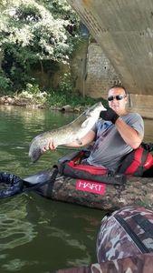 Wels — Nicolas flyfishing