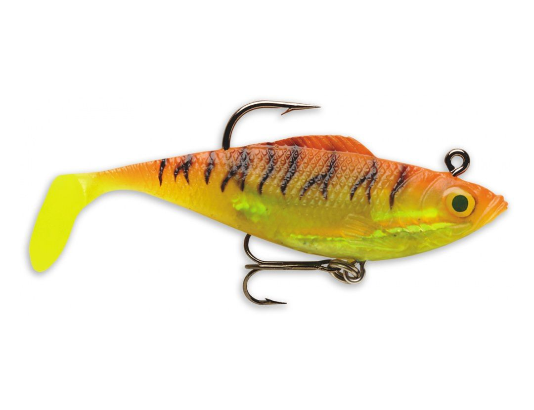 Lures Storm WILDEYE RIPPIN' SWIM SHAD WRSS04 GOLD FLUORESCENT RED