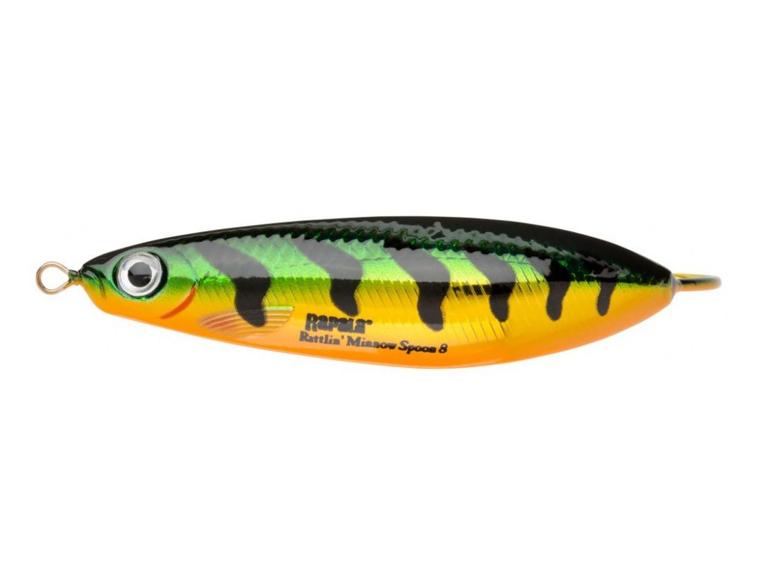 RATTLIN' MINNOW SPOON RMSR08 FLASH PERCH