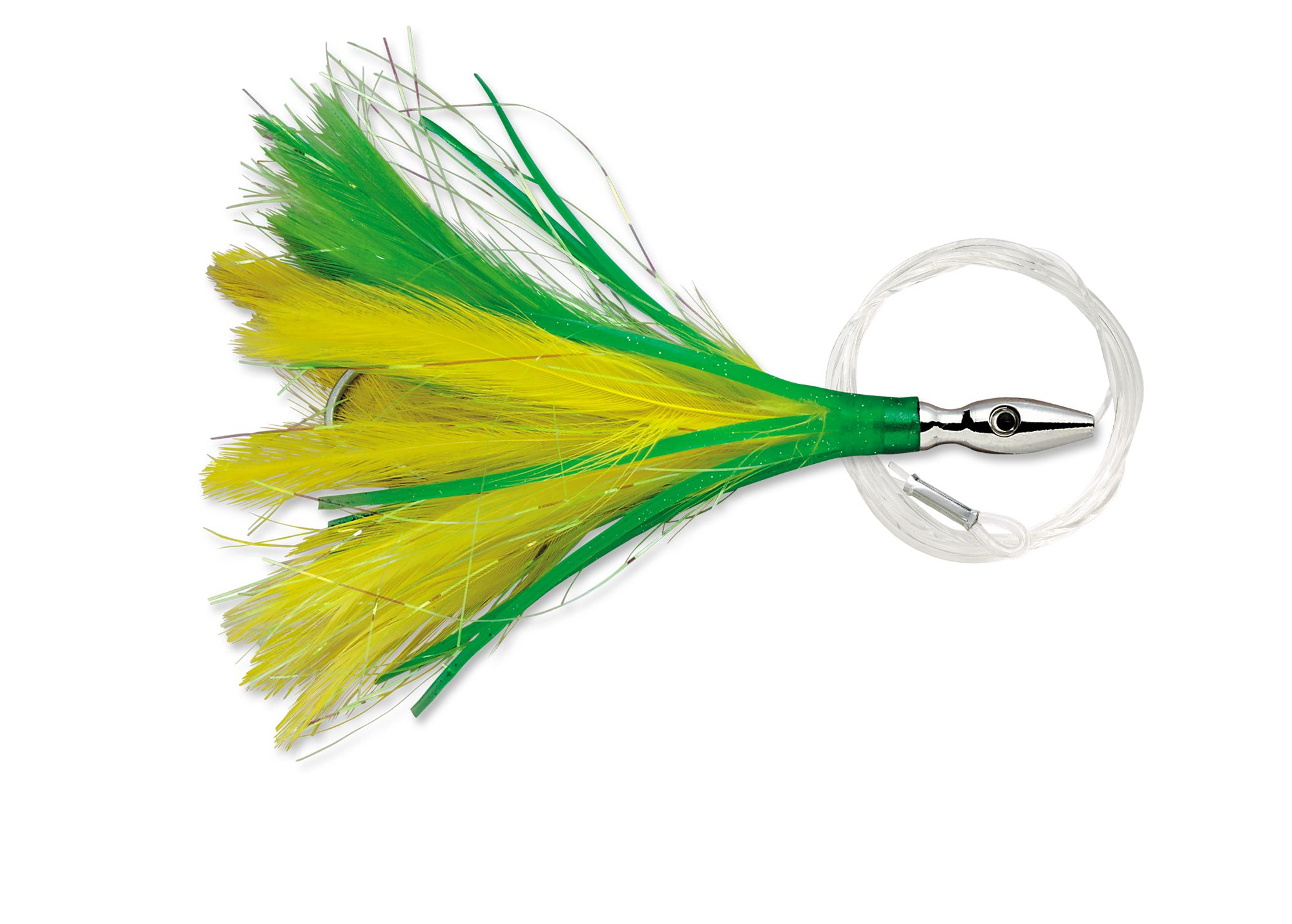 Lures Williamson FLASH FEATHER RIGGED FFR03 YELLOW GREEN