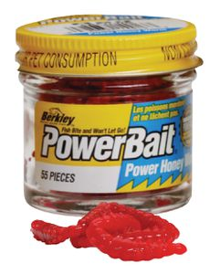 POWERBAIT HONEY WORMS 2.5 CM RED