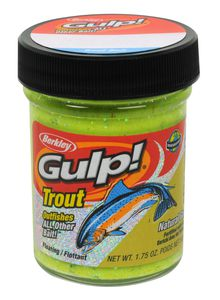 Baits & Additives Berkley GULP! DOUGH NATURAL SCENT CHUNKY CHARTREUSE