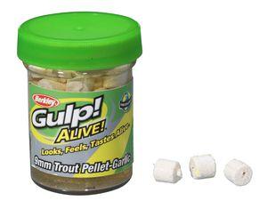 GULP! ALIVE TROUT PELLET 9 CM GARLIC-WHITE