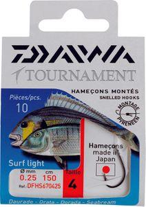 Hooks Daiwa HAMEÇONS MONTÉS SURF LIGHT N° 8 DFHS670823