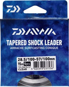 Leaders Daiwa ARRACHÉ SURF TAPER LEADER 15M X 5 0,16 / 0,57 TRANSLUCIDE 15M