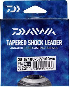 Leaders Daiwa ARRACHÉ SURF TAPER LEADER 15M X 5 0,26 / 0,57 TRANSLUCIDE 15M