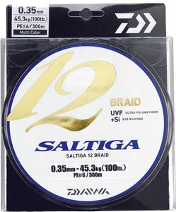 Lines Daiwa SALTIGA 12 BRAID 16/100 300 M MULTICOLORE