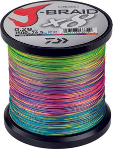 Lines Daiwa J BRAID X 8 28/100 1500 M MULTICOLORE