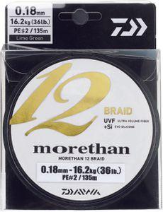 Lines Daiwa MORETHAN 12 BRAID 08/100 135 M CHARTREUSE