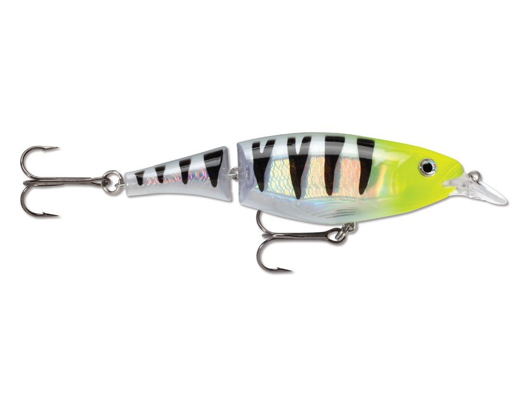 X-RAP JOINTED SHAD XJS13 CHARTREUSE GHOST PERCH