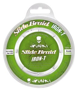 SLIDE BRAID IRON-T 120 FLUO GREEN 0,176
