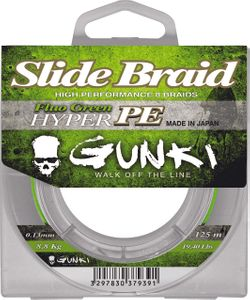 Lines Gunki SLIDE BRAID 125 FLUO GREEN 0,08