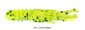 "Lures Reins MICRO TUBE 1,5"" 419 - CHARTREUSE PEPPER"