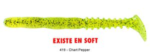 "Lures Reins FAT ROCKVIBE SHAD 6,5"" 419 - CHARTREUSE PEPPER"