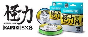 Lines Shimano KAIRIKI SX8 PE 0.150MM / 300M / VERT FLUO
