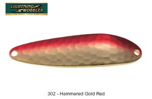 Lures Tiemco LIGHTNING WOBBLER 7 G 302 - HAMMERED GOLD RED