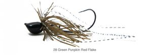 PDL BAIT FINESSE JIG 14 G 28 - GREEN PUMPKIN RED FLAKE
