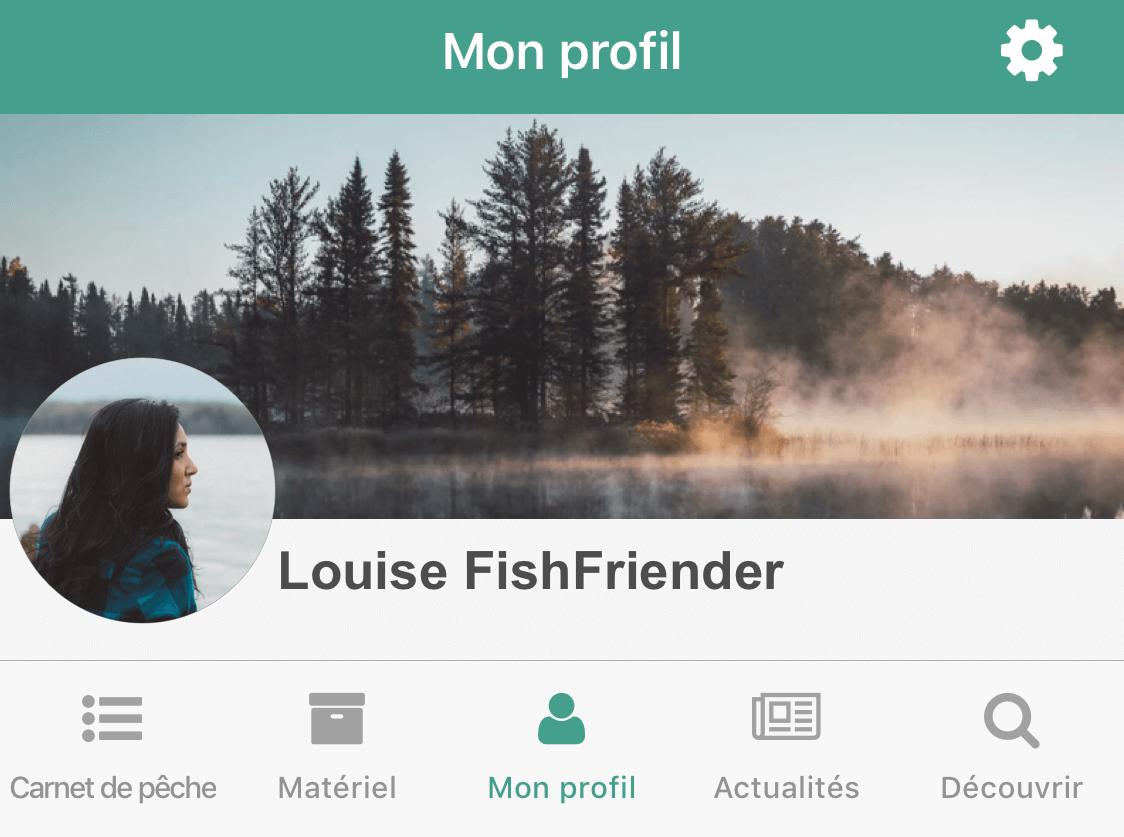 Mon profil FishFriender