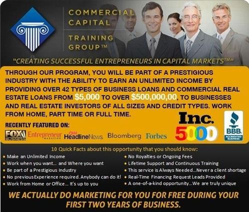 Start  Commercial Capital Training Group Franchise