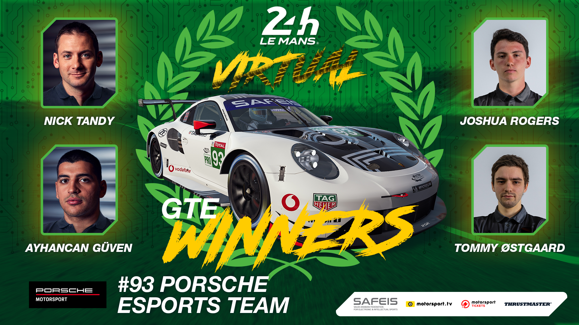 Porsche Dominates Gte Category At The 24 Hours Of Le Mans Virtual Fi