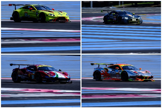 New For 2018 Models From Aston Martin And Ferrari Left Column 2017 In Lmgte Am Right