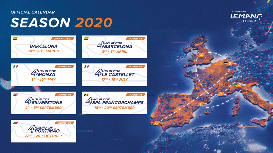 Calendario Elms 2021 2020 European Le Mans Series calendar revealed   FIA World Endurance C