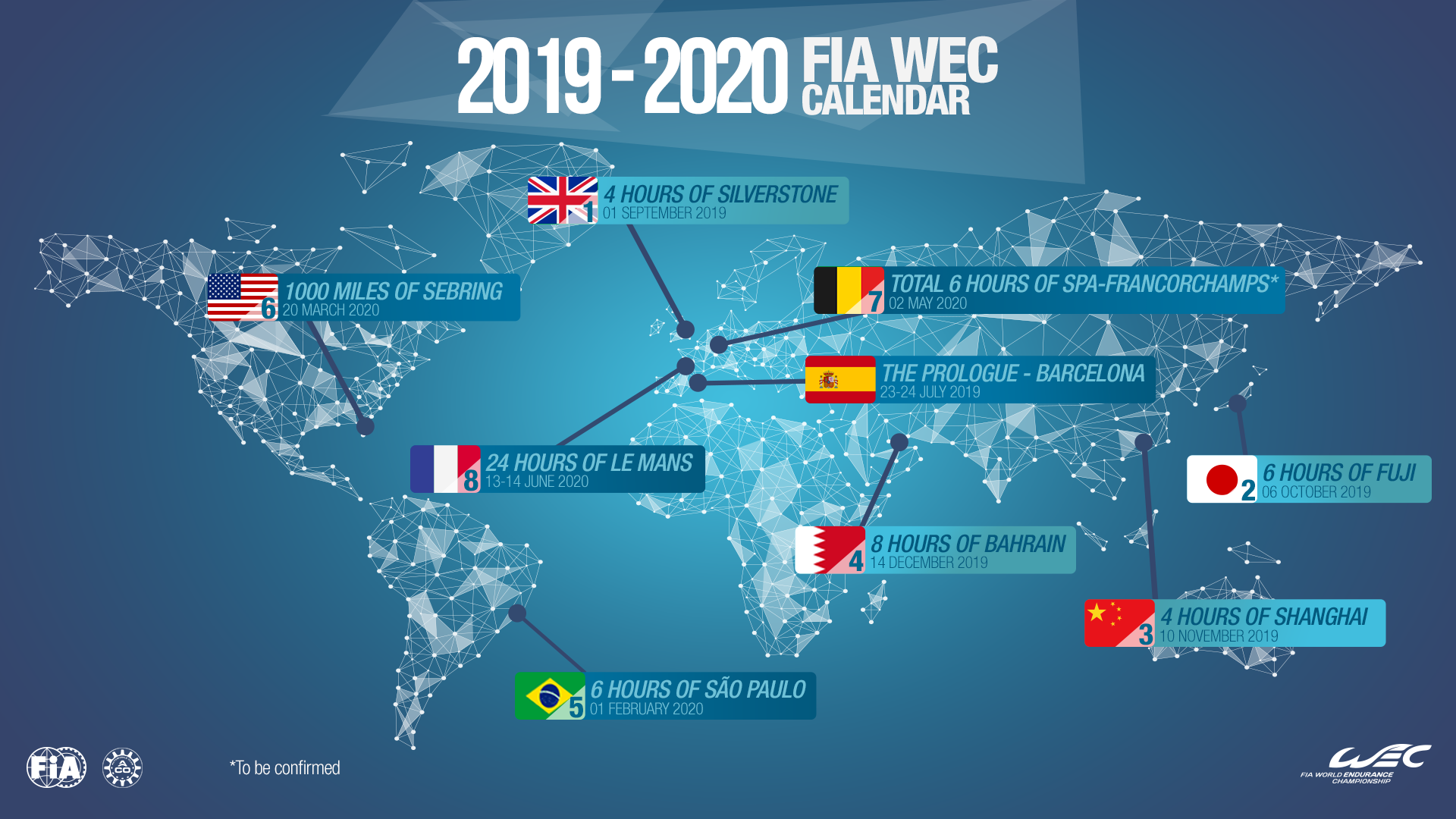 Calendario 2020 2020.2020 Super Sebring Dates Confirmed Fia World Endurance