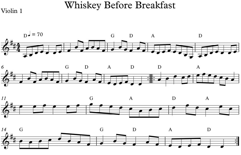 Whiskey Before Breakfast   FiddleHed Online Fiddle lessons
