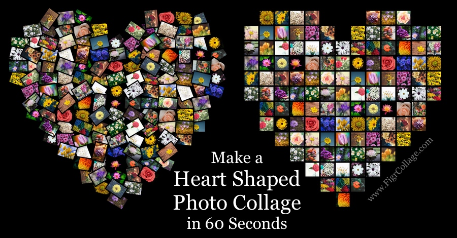 Make Heart Shaped Picture Collage