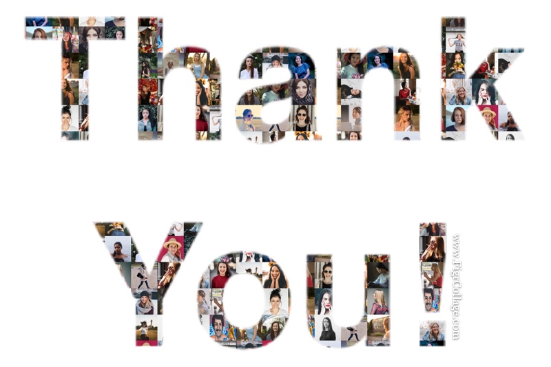 Text Collage - Thank You