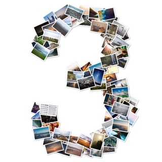 Number Photo Collage