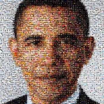 Obama photo mosaic
