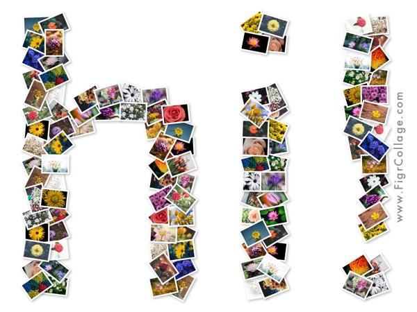 """Hi"" Word Collage"