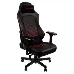 NOBLECHAIRS HERO TOP GRAIN LEATHER GAMING CHAIR - BLACK I RED *เก้าอี้เกมมิ่ง