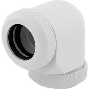CORSAIR HYDRO X SERIES XF HARDLINE 90° 12MM OD FITTING TWIN PACK — WHITE *ฟิตติ้ง